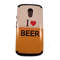 Funda Protector Mixta Motorola Moto G 2da Gen I Love Beer Am
