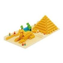 Figura Armable Nanoblock Pirámide De Giza Y Esfi