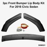 Lip Bumper Faldón 3 Pzas Honda Seat Jetta Ford Nissan Toyota