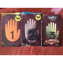 Paquete De 3 Libros Gravity Falls 1-2  Y 3 Diarios Y Comic