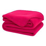 Cobertor Melocotton Merrow Individual Fucsia Liso