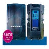 Bocina Activo Súper Potente 18 Audiobahn Amplificado 30000w