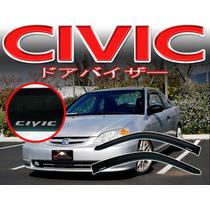Honda Civicdeflectores De Puertas Personalizados Elegantes