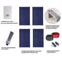 Kit Panel Solar Para Interconexión A Red Cfe De 1 Kwp