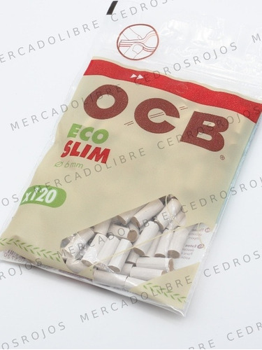 Filtros Ocb Slim Organicos Ecologicos No Blanqueados Zig Zag
