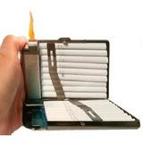 Cigarrera Metalica Con Encendedor Integrado