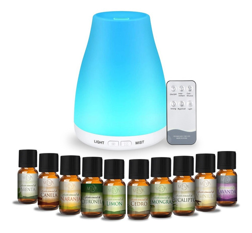 Difusor Humificador Aroma + Aceites Esenciales Aromaterapia