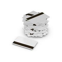 Set De 100 Tarjetas De Pvc Con Banda Magnética - Blancas