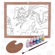 Fantasía Acuarela Pinta Por Números Kit Con Pinturas 3+ Biyu