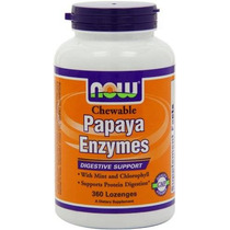 Now Foods Enzima De Papaya 360 Pastillas Masticables