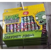 Crayolas Plantas Contra Zombies Ideales Premios En Fiestas