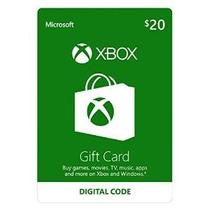 Xbox $ 20 Tarjetas De Regalo [código De Juego Online]