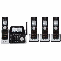 Kit 4 Telefonos Inalambricos At&t Contestadora Cl83451 Msi