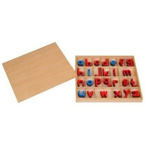 Montessori Pequeños Móviles Alfabetos W / Caja