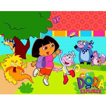 Kit Imprimible Dora La Exploradora Diseñá Tarjetas Cumpl 2x1