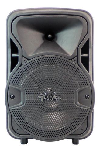 Bocina Stylos Tech Baffle 8  Portátil Con Bluetooth  Negra 110v/220v