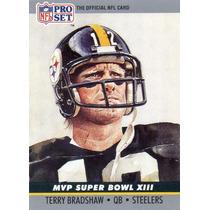 1990 Pro Set Mvp Super Bowl X I I I Terry Bradshaw Steelers