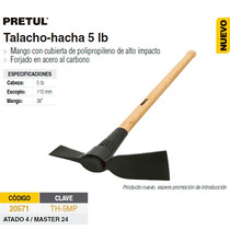 Talacho-hacha 5 Lbs Mgo Madera Pretul