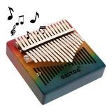 Piano Kalimba Madera 17 Teclas Instrumento Musical Retro