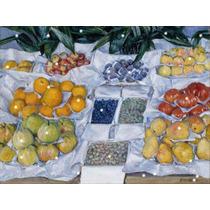 Lienzo Tela Puesto De Frutas Gustave Caillebotte Arte 1882