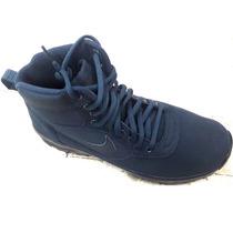 bf309221b9f Botas Nike Air Manoadome Piel Y Gamuza Azul Waterproof en venta en ...