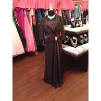 Vestido Fiesta Noche Alta Costura Jade Talla 12 $490 Dlls