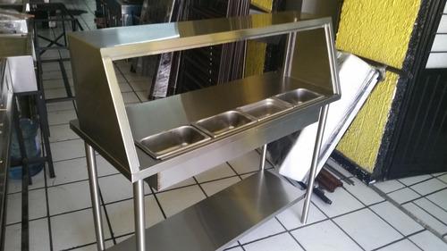 Mesa fria ensaladera mesa de trabajo con insertos 3800 for Mesa de trabajo precio