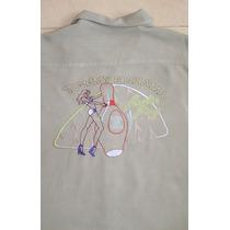 Tommy Bahama Padrisima Camisa Bordada Talla Grande 100% Seda