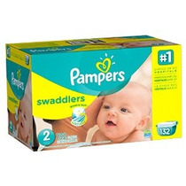 Pampers Swaddlers Pañales Tamaño 2 Paquete Gigante 132 Conde