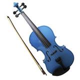 Violin 4/4 Acustico Con Arco, Brea Y Estuche. Azul Mad.maple