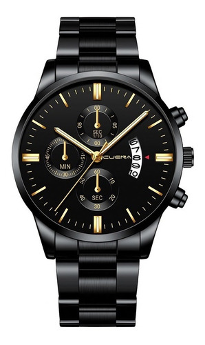 Reloj Nuevo Original Con Fechador Correa Metálica Hombre