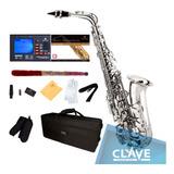 Saxofon Alto Sax Niquelado Cecilio Mendini + Accesorios