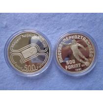 Dos Monedas 500 Florines Conmemorativas España 82 Plata .925