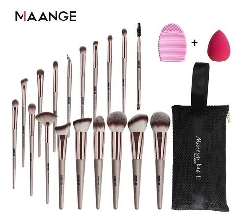 Kit De Brochas Profesionales Para Maquillaje 18 Piezas