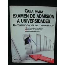 Beredjiklian, Guía Para Examen De Admisión A Universidades.