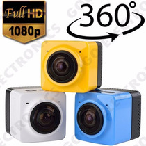 Camara Deportiva Videos En 360° Cube Wifi Fullhd Fish Eye 8m