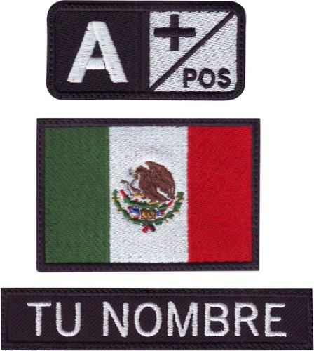 d5bfd0473101 Mexico Paquete 3 Parches Bordados Ts, Id Y Bandera V-lcro en venta ...