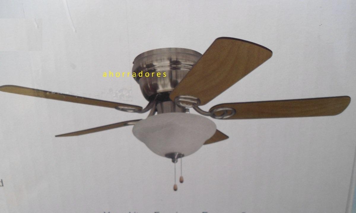 Abanico ventilador de techo 42 acabado niquel cepillado 1 en mercadolibre - Precio de ventiladores de techo ...