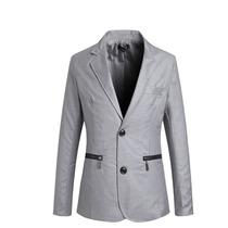 Saco Blazer Caballero Elegante Estilo Cierres Moda Slim Fit