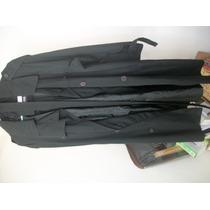Abrigo Tipo Matrix Negro Ralston Con Detalle Hm4