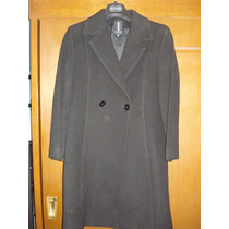 Abrigo Negro De Lana Ivonne