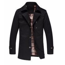 Abrigo Blazer Saco Color Negro Trench Casual Para Caballero