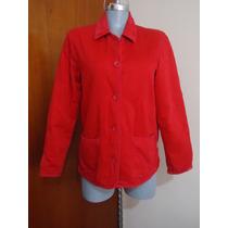 Fino Y Calientito Abrigo Corto Rojo M-34 P/dama Forrado