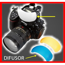 3 Difusores Para Flash Integrado Cámaras Canon Nikon Sony