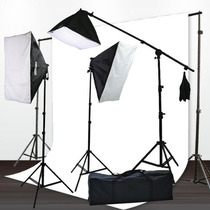 Set De Fotografía Iluminación Estudio Fondo Super Paquete