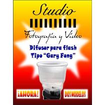 Difusor Para Flash Tipo Gary Fong, Blanco Transparente