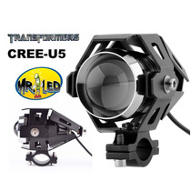 Poderoso Faro Para Motocicleta Universal Led Cree U5 125w