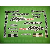 Kit De Calcomanias Para Moto Kawasaki Ninja Zx6r