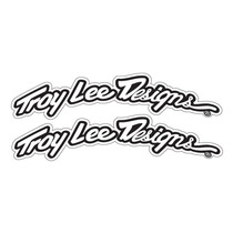 Troy Lee Designs Arqueó Fender Decal Set Negro / Blanco