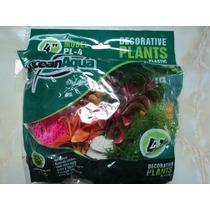 Planta Artificial Acuario 6pzas 10cm C/u Dulce/salada